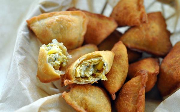 veg baked samosa